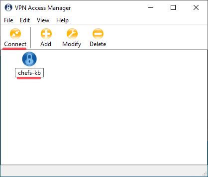Shrew VPn CLient it Profil