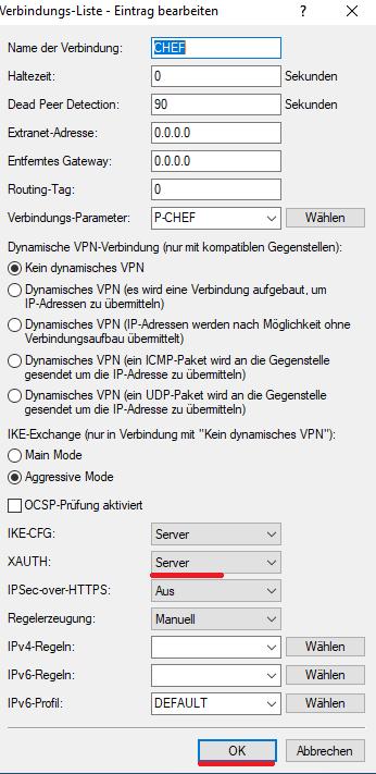 Lancom - Lanconfig - VPN Profil