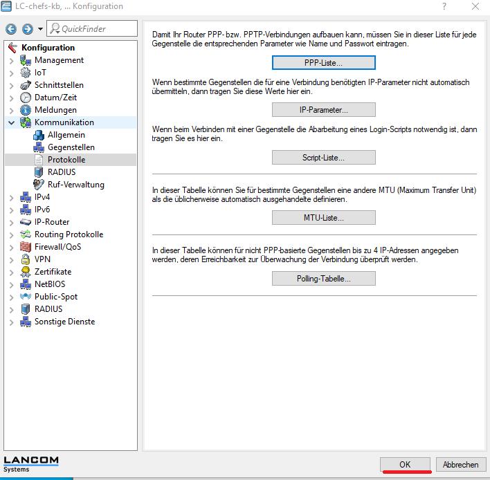 Lancom - Lanconfig - Konfiguration speichern